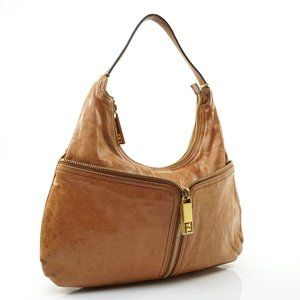 Auth Fendi Hobo Light Brown Leather #N2181E20